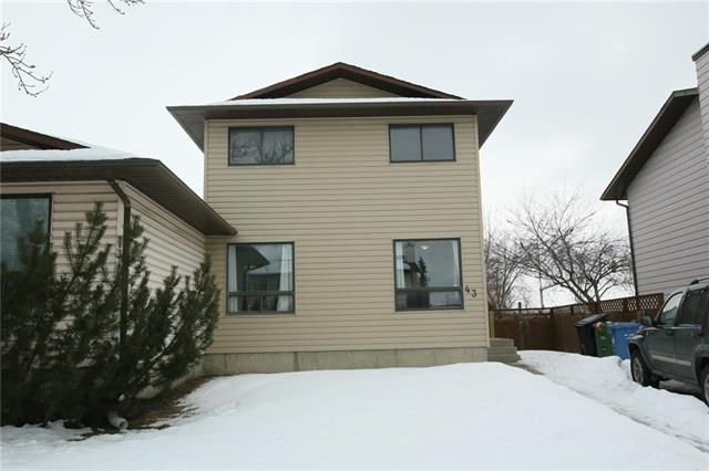***INVESTORS/FIRST TIME BUYERS/MOVE-UP FROM CONDO/TOWNHOME***  ***NO CONDO FEE, GREAT STARTER HOME FOR SOMEONE WITH A LOW BUDGET IN HAND*** GREAT LOCATION, just a short drive from Bishop Mcnally High School, OS Geiger School, Escuela St. John Paul II Elementary School, Terry Fox School | Calgary Board of Education, Falconridge/Castleridge Community Playschool, Playground, and Calgary Transit. The main floor of the house has a spacious living room, dining area, a roomy kitchen, & a half bath. Upstairs, it has 3 decent size bedrooms along with a full bathroom. The basement is partially developed & still got some space for your creative ideas... book your private viewing today before it's sold!!!