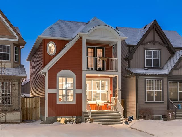 STUNNING, FULLY FINISHED home w/OVER 2,148 SQ FT of developed living space, on a QUIET CUL-DE-SAC in the SOUGHT-AFTER LAKE Community of AUBURN BAY w/YR ROUND Activities, close proximity to AMENITIES + the SOUTH HOSPITAL! EYE-CATCHING exterior features a SOUTH FRONT PORCH + UPPER BALCONY, a BRIGHT Foyer + UNIQUE MAIN LVL w/SPACIOUS LIVING rm, 9' CEILINGS, COZY GAS F/P w/Mantel, decorative NOOK + NEW LAMINATE flrs, BEAUTIFUL Kitchen w/FULL DARK CABINETRY, SKYLIGHT, S.S. Appl's, GRANITE Counters + ISLAND w/B-FAST BAR, Dinning rm w/access to the LRG DECK w/GLASS PANELS + 2pc Bath! GORGEOUS CENTRAL Staircase leads to a RELAXING MASTER w/W.I.C., 4pc EN SUITE w/Glass SHWR, PRIVATE, COVERED BALCONY; PERFECT for a quiet morning coffee, 2 more GOOD Size BDRM's + a 4pc Bath complete the upper! INVITING BSMT w/Living rm + GORGEOUS WET BAR, MODERN 3pc bath, 4th BDRM w/W.I.C., Utility/Laundry rm + STORAGE under stairs! ENJOY the FULLY Landscaped YARD w/DOG RUN, LRG STORAGE SHED + 3 PARKING PADS w/rm for TRAILER! WOW!