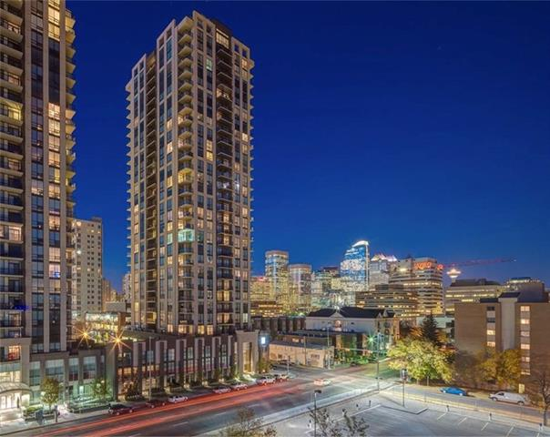 Enjoy Stunning Sunsets & Spectacular Mountain, City & Bow river views from this 27th floor, west facing 2 bed/2 bath beauty.Experience inner city living at its finest! Featuring porcelain tile, in-floor heating, frameless 10 mil glass shower, soaker tub & quartz countertops. Open concept design has 9 ft ceilings & gourmet kitchen featuring Gas cooktop, convection built-in oven, Fisher&Paykel Fridge, soft-close cabinets, large walk-in pantry. Heated tile & plush carpet thru-out the unit & the living space extends out onto a large west facing balcony. Large floor to ceiling windows in all rooms. Heated underground parking stall conveniently located on P2 & storage is on 3rd floor. LUNA amenities include 2 guest suites, owners lounge, gym, yoga room, steam rooms, 2nd level courtyard & guest parking. Midtown Co-Op & Connaught School Conveniently located across the street & steps away from many amenities. An exceptional building with unsurpassed amenities, & spectacular views!