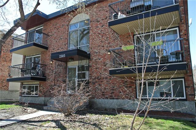 Outstanding condo located in a truly amazing location across the street from the Bankview Community Centre and large open greenspace. This home shows very well and features a terrific floorplan with great flow between the kitchen, living and dining room areas. Directly off your dining room is a large patio that overlooks the community centre. Your master suite is very spacious and has its own private washer/dryer combination unit. The bathroom features a jetted tub and you also have a large storage room directly in the unit. On the main floor of the condo there is additional laundry services and out back you have a covered parking stall. The condo fees include all utilities yes even electricity. This home should be on your must see list!