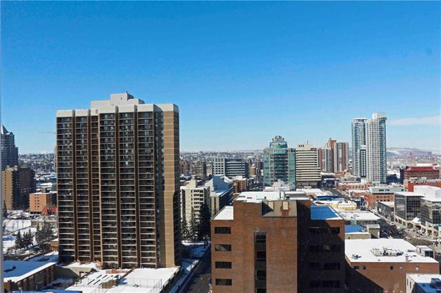 """FIRST TIME OFFERED TO MARKET. This glorious """"01"""" plan is located on the 17th floor with unobstructed views to the south and west. A sellers dream! This spacious 2 bedroom 2 bath is ideal for that working professional or young couple looking for an ideal downtown location. The entrance way is large and appears seperate from the living quarters. Stacked laundry in the front closet. The kitchen has a massive granite countertop island thats ideal for congregating & is situated next to the large dining area. Floor to ceiling windows add an abundance of sunlight that keeps this space bright all day long. Suitable for large gatherings. The master supports a king size bed along with other large furniture pieces. A spacious 4ft x 8ft walk-in closet is beneficial & ideal for this new buyer. The expansive patio fits a plethora of furniture that has the best skyline views. The unit comes with 2 titled parking (rare for the core) + seperate storage. Guest suite and expanded fitness centre. Don't miss this opportunity!"""