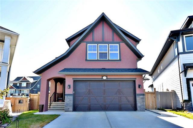 Wow! 80k price reduction for quick sale. One home away from the lake with private access on a cul-de-sac! Your new executive home boasts many upgrades and an oversized lot. Upgrades include granite counters, stainless steel appliances, hardwood floors, huge center island, Dual microwave/second oven, wired for surround sound, HUGE walk in closet, steam shower and two person tub in master bathroom, media room, gas barbeque line and firepit, outdoor speakers, shed, vaulted ceilings and gas range. Lots of parking with extended driveway. Basement is fully finished with 9 ft ceilings, media room, wetbar, full bathroom and extra bedroom. Great location. Lake access includes free boat rental, kayaking, fishing, skating and hockey, firepits, picnic and barbeque sites, splash park and playgrounds, gymnasium and event space. Award winning community. Must be seen, call realtor today!
