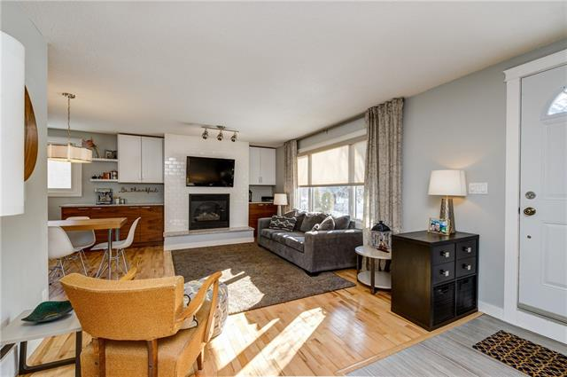 *OPEN SAT./SUN. March 17th-18th 2-4pm.*Bonavista Downs, a hidden gem in Calgary! One of the BEST VALUES in SOUTH CALGARY Affordable elegance, this home needs to be seen to be appreciated. Beautifully renovated 5 bedroom bungalow w/ 1737 sq ft of developed space! Open and bright living room features oak hardwood floors, cozy gas fire place w/ stylish white subway tile design. Well thought out remodel making incredible use of space throughout home w/ custom cabinetry. Kitchen features prep/baking station, floor to ceiling two toned cabinetry, quartz countertops, subway tile backsplash, stainless steel underlay sink, stainless steel appliances and gas stove, barn door for broom/storage closet. Main bath w/ quartz countertops, grey cabinets, marble sink. Lower level features custom/unique office space, large rec room w/ built-in entertainment centre, 2 good sized bedrooms, 3 piece bath and large laundry room. Newer windows, roof, high efficient furnace, hot water tank. Oversized double garage and RV parking