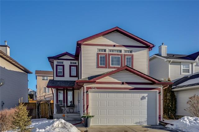 Open House: April 21st 2:30pm-4:30pm. This 4 bedroom and 3.5 bath two storey located on a quiet street in the popular community of Tuscany has been wonderfully renovated and is a perfect place to call home. Main floor highlights include espresso maple kitchen cabinetry capped with granite and accented with a decorated tile back splash and stainless steel appliances, pot lighting overhead in the knockdown textured ceiling, large living room and dining area, a flex room perfect for a home office and a half bath. Upstairs there is a large bonus room with vaulted ceilings and a gas fire place, a common four price bathroom and three large bedrooms including the master which features plenty of closet space and a four piece ensuite with a deep soaker tub. The lower level is fully finished with a large rec room, a third full bathroom and a guest bedroom. Enjoy the summer months ahead out on the back deck in the fenced back yard. Tuscany has plenty of parks, schools, amenities and access to the LRT! Call to view!