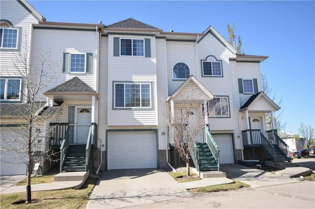 Fantastic family town home in the desirable community of Rocky Ridge. The foyer leads you into the spacious living room which boasts a cozy corner fireplace. The kitchen features wrap around cabinets, ample counter space and all white appliances. The eating area is just off the kitchen and has space for a large table and access to the back deck. A 2p bath completes this level. Upstairs the master suite has a large closet and 4p ensuite. 2 additional generously sized bedrooms and a full bath complete this level. The linen cupboard is conveniently plumbed so you could have upper floor laundry. The lower level is partially finished with a laundry room and garage access. The tandem garage has been converted into a single attached garage leaving you an additional flex room (however it could easily converted back). Outside your back deck overlooks green space and provides easy access to the communal garbage garage.
