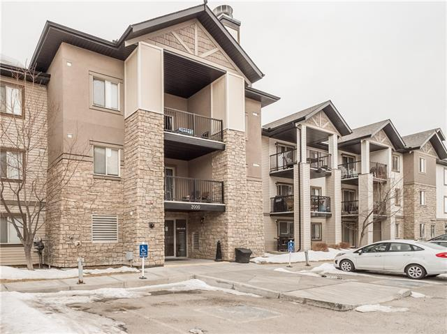 HOME SWEET HOME! If you are looking for a great investment opportunity, you have come to the right place! Welcome to your updated, move-in ready 2 bed, 2 bath condo in the desirable SW Calgary community of Bridlewood. This corner unit condo has an open concept layout featuring a spacious living room with lots of windows, a generous dining room area and a modern kitchen including a large breakfast bar. This unit contains two bedrooms and two bathrooms including the master bedroom with a 4 piece ensuite. Additional features include in-suite laundry, a convenient storage room, a huge patio, titled underground parking stall and condo fees that include heat, water & electricity. Located in Bridlewood this property is close to all major amenities including quick access to Fish Creek Park, nature conservation area, shopping and grocery stores, restaurants, public transportation, major roadways and more. Don?t wait, book your private showing today!