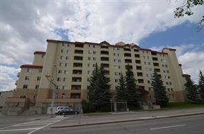Price reduced!! Very nice 2 bedroom 2 bath condo in GREAT location close to U of C, Foothills, Downtown. Open galley kitchen, loads of storage.Fully furnished too!   Perfect for a starting condo   Laminate floors, large balcony with nice view of downtown, McMahon Stadium. Master has ensuite and walk-in closet  2nd bedroom also has walk in closet.  Currently rented until Dec 31 for $1600 mth. Tenant is amiable but has baby and needs MINIMUM 48 hour notice.