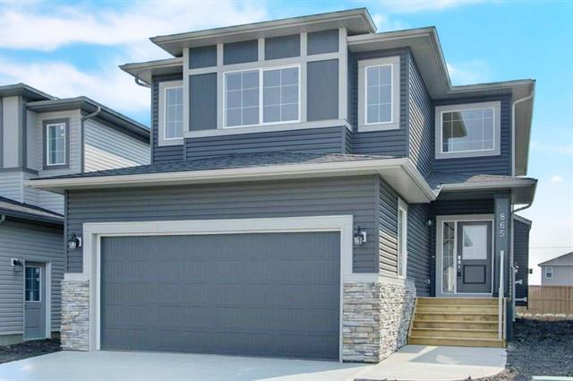 This luxurious brand new 2250 square foot home has exceptional finishing and an excellent floorplan. It includes a dramatic two storey entry, granite counters, 9' ceilings, engineered hardwood & tile floors and coffered ceilings. The floorplan has a beautiful kitchen with a big island, a generous dining room, a 15' living room with a fireplace, plus a flex room, a very big mudroom and a walk-thru pantry. The second floor has a luxury master suite with soaker tub, 4' stall shower, double sinks and a walk-in closet, plus second and third bedrooms, laundry room and a bonus room with a mountain view.