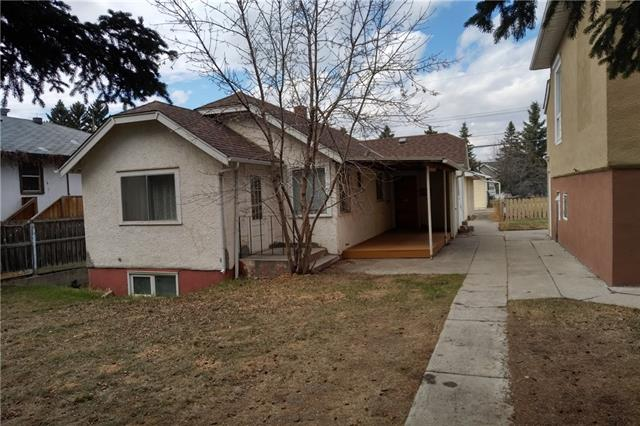 """GREAT INNER-CITY OPPORTUNITY! Now trending: Highland Park! ON THIS QUIET, PLEASANT AVENUE, EVERGREENS ACCENT THE 13 METRE FRONTAGE/35.15 METRE DEPTH OF THIS R-C2 ZONED LOT. The newly painted interior of this character home has 2 bdrms + a lovely sun-den which could be a 3rd bdrm. 2 upgraded baths, one 3 piece, one 4 piece. Lower (not legal) """"bachelor/studio suite"""" has upgraded windows, ceramic tile floors. Refinished solid fir floors, seen thru-out main, offer undeniable charm. The bright kitchen has generous eating area + new countertop. What was likely an original """"butler's pantry,"""" now storage, could be upgraded to modern standards, adding a luxury vibe! Big double garage, 525 sq ft, ample for vehicles+hobbies, has gas line running to it. So, easily heated. A covered deck, just above ground level, has nice SE exposure. Walk to transit, shops, services, cafes, and the new Citizen Brewing Company! All this and more! Be downtown in minutes. Fast access to all parts of town. Excellent value, don't miss it!"""