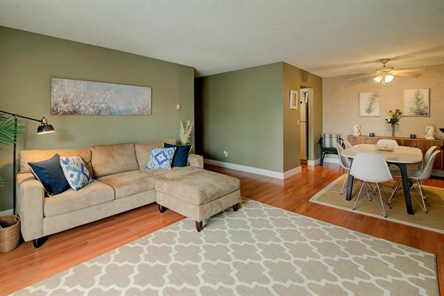 Located in sought after Bridgeland this spacious, bright, second floor corner unit has lots to offer. A 10 minute walk takes you to Downtown, the C Train, restaurants, shops, parks and the Bow River walk/bike paths. This unit is south facing with a partial downtown view from the balcony. The large living/dining area has access to the balcony and  is great for entertaining or relaxing.  The master bedroom is large and has a walk in closet. The bathroom has been renovated and is fresh and bright. Plus this home comes with in-suite laundry and storage. The building is secure, well-managed,  has heated, well-lit underground parking, bike storage, and clean, well maintained foyer and common areas.  All this and a 2 minute walk takes you to Luke?s Drugstore which offers so much more than you can tell from the outside - full service pharmacy, post office, grocery store, very cool items in the Luke?s Market area and AWESOME COFFEE!