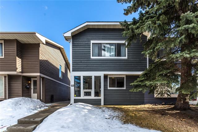 Beautiful, affordable FAMILY home ? NO CONDO FEES in a prime location within walking distance of shopping, school and transit PLUS LAKE access just in time for summer. This 1400 sqft home has updates in the kitchen ? backsplash, stainless steel appliances; in the bathroom ? new vanities, soaker tub & tiling around the tub; and in the exterior ? new roof, new fencing, new deck. The entrance foyer is spacious & inviting.  Lots of natural light in this home from the spacious kitchen and dining room to the private living room in the back when you can access your large deck and fenced backyard and single detached garage. Upstairs is an oversized master with 2 other bedrooms and a 4-pce bathroom.  The basement offers lots of storage space and one finished room. Don?t let this one pass you by, book your private showing today!