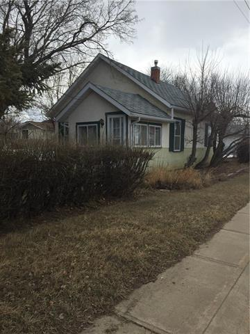 Location! Location! 75x140 foot lot with an older bungalow on a corner lot , that lends it self to a great future building site, very nicely treed and south backyard, in this vibrant town of Trochu!