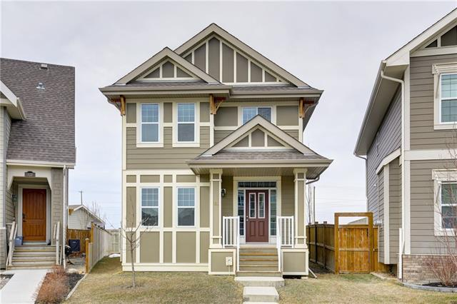 Welcome to this beautiful 2 storey home in the award winning community of Mahogany! This stunning family home has an open concept floor plan and boasts hardwood floors throughout the main level, 9? ceilings, tons of natural light & den/flex room on the main. The modern kitchen has white cabinets, tile backsplash, stainless steel appliances and granite countertops. The kitchen opens directly to the spacious dining area and flows through to the living room. Head upstairs to a large master bedroom featuring a spacious walk in closet and 4pc ensuite. Down the hall are two additional kids bedrooms, a full 4pc bath and upstairs laundry with linen closet. Step outside & enjoy your large pie shaped lot with a 26'x24' oversized double garage with an 8' door that will be finished by possession with permits. Also has room for RV parking, large deck and plenty of room for the kids to play. Don?t miss your opportunity to own this beautiful home four houses from a park and spend this summer at the beach in Mahogany!