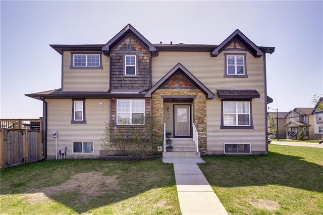 Welcome to Silverado! This 1,636 square foot 2 storey which sits on a corner lot has to be seen! Inside, an open floor plan is bathed in natural light from windows on 3 sides. Hardwood flooring runs throughout the main floor. Entertaining size kitchen features centre island with breakfast bar, loads of cupboard space plus a corner pantry. Good size dining room that is surrounded with large bright windows. Cosy den/office with french doors off the living room which has corner fireplace with rich dark tile facing and mantle. Upgraded carpet, wrought iron railing and ceramic tile in the baths is featured upstairs. 3 spacious bedrooms with the master easily able to accommodate a king size bed. Full ensuite with soaker tub, separate shower and larger vanity.  The Unspoiled basement has MASSIVE windows, new hot water tank, rough in plumbing for future development. The large deck off the kitchen looks out to a enormous backyard which has ample room for a garage. Book your showing today!