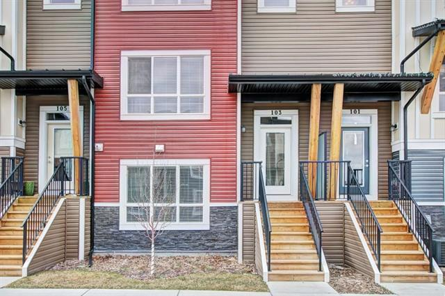 Welcome to this immaculate 2 Storey Townhouse in the highly desirable community of Walden. This home is only one year old and priced to sell! Enter this home at the ground level to find a flex room (could be used as a 4th bedroom) with large window, storage areas and your double attached side by side garage. Head up to the main to find your open concept living space. You'll be impressed with the bright kitchen with quartz counter tops, SS appliances and upgraded deluxe gas range. Also on the main is a lovely eating nook, 2 piece bath and access to your deck - complete with gas hook up. Up on the second level is your large master bedroom. It features a lovely 4 piece ensuite which opens into your master walk in closet. Upstairs there are also 2 spacious bedrooms, washer & dryer and another 4 piece bath. Also included in the home is $3000 worth of Hunter Douglas Blinds. Exterior maintenance will be a breeze as yard work and snow removal is included in monthly condo fees.