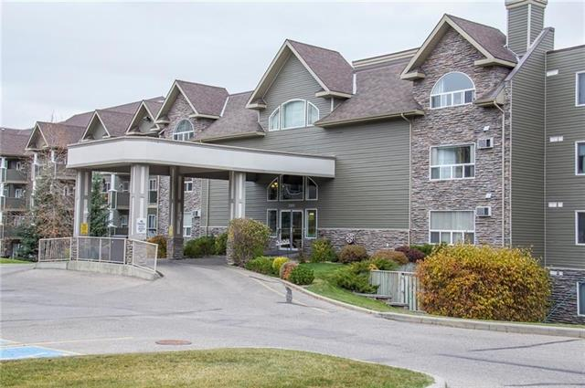 Legacy Estates in Millrise Point. A +60 building with tons of amenities. Hair stylist, library, exercise room, craft room, recreation room, car wash and a dining room where you can enjoy hot meals. (Minimum $75/mo charge). This is a 3rd floor, east facing, upgraded,1 bedroom unit WITH a titled parking stall. Surprisingly spacious for a 1 bedroom. New laminate flooring, fresh paint, new stainless steel kitchen appliances and new washer and dryer. The reasonable condo fees ($391/mo) include your heat and electricity! Call today for your private viewing.
