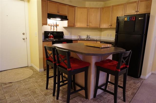 ***Open House Sat Aug. 11 11:00am - 1:00pm***This well appointed, spacious apartment has a practical floor plan and shows pride of ownership. It is an end unit conveniently located near the elevator with only one neighbour. The kitchen is spacious, features maple cabinetry, an island eating area and plenty of natural light enters the home through a large living room window. The two bedrooms are located on either side of the living room, the Master features a walk-in closet and 4pc bath. The second bedroom is steps away from the second 4pc bath. A North facing balcony with maintenance free decking and a natural gas line completes this unit. There is 1 registered parking stall in the heated underground parkade conveniently located near the exit. Located nearby all major amenities including Costco, Walmart and Cineplex, easy access to Stoney Trail, and a short walk to Elliston Park, Tims, and restaurants. A must see!
