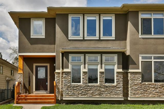 Acrylic Stucco and natural stone exterior - This 2 story home is located near schools, parks, walking, hiking and biking paths, Edworthy park, Bowness Park with quick access to major routes.