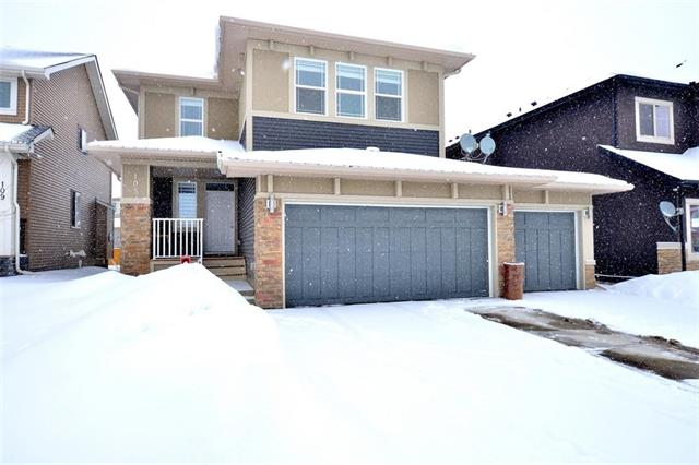 THE HOUSTON BY STEPPER HOMES, a builder with over 60 years of experience. WALK TO SCHOOL, Calgary lab services, coffee shop & other services. Features 9' ceiling & hardwood flooring on main floor. Maple cabinets,walk-through pantry,lots of countertops,large island with quartz (harder & more durable than granite) for all your meal prep,breakfast nook,gas line to deck & stove,knock down ceiling, finished & painted TRIPLE GARAGE, STAINLESS STEEL APPLIANCES. Main floor includes a 2 pcbath,laundry & great room with GAS FIREPLACE. Main floor includes a den so you can work from home. stairs dressed with wrought iron spindles & MAPLE RAILING lead you to the upper floor where you will find 4 good size bedrooms, 4 pc bath with QUARTZ countertop, a hugh BONUS ROOM in addition to a huge master bedroom.