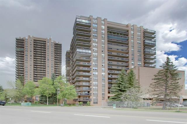 Upgrades, location, mountain & city views, oversize secured heated parking stall and layout, this unit is one of the best you can get for this price. Condo fee is only $379/month includes all utilities (cable, heat, electricity, access to view security cameras from unit including buzzer, water/sewer, fitness room, social room). Located conveniently next to Safeway, C-Train, restaurants, doctor?s offices and tons of shopping, you will not need to walk more than 5 minutes for anything. A huge bedroom, 4 piece bathroom and $12,000 of upgrades including slate floor, carpet, ceiling fan, and nearly everything else except the kitchen sink. You have a choice of hook up for in-suite laundry or a laundry room on every floor. Very secure with over 20 cameras, room to store your winter tires, built from concrete so very quiet, 2 elevators, you never wait, a social room and fitness room. Furniture negotiable, this lock and leave lifestyle is perfect for someone that just wants to move in and only needs to buy food.