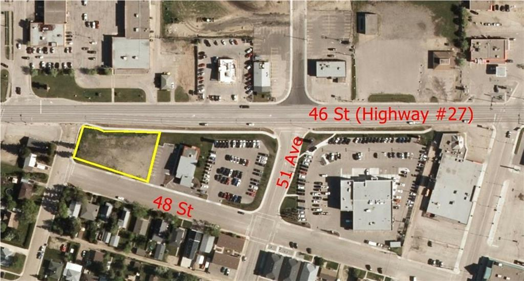 Amazing Highway Commercial lot for your business!  AB Transportation will be requiring traffic lights at intersection of 51 Street and Highway 27 to be installed in 2018/2019, which will give this lot great exposure and easy access.