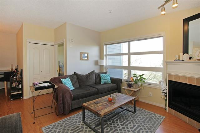 This is a beautifully kept unit located on the 3rd floor with gorgeous views of the Bow River and the surrounding parks. Enjoy walking or biking along the river pathways or just take in the views from almost every room, including the balcony. The location offers an awesome lifestyle with easy walking distance to various restaurants and shops, and maybe even work! This unit has an excellent floor plan, offering an open concept though out the kitchen, living and dining room areas, creating separation between the two bedrooms.There are large windows allowing plenty of natural light, as well as, beautiful views during the day or evening.You will love the versatility of this unit for entertaining, with plenty of room for hosting dinner parties, barbecues or just relaxing in front of the fireplace. The master bedroom includes it's own ensuite bath, a walk in closet, and again river views!