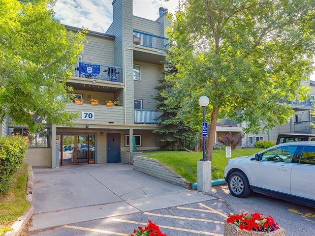 GORGEOUS apartment located at GLAMIS,Come and view this COZY and Natural Bright CONDO and make it your HOME. ENJOY the BALCONY and be surrounded by NATURE AND AMAZING VIEW OF THE GREEN SPACE !. You will LOVE living here. This condo has HUGE LIVING AND DINING  ROOM with a ROMANTIC FIREPLACE, VIEW FROM EVERY WINDOW. You just have to see it to believe it!!. A large Master bedroom with a floor to ceiling closet. Insuite laundry, insuite storage .LOCATION IS THE BEST just minutes to MOUNT ROYAL UNIVERSITY and DOWNTOWN; close to amenities, shops, schools, transit; proximity to restaurants and parks like (Optimist Park) THIS COMMUNITY IS FULL OF ACTIVITIES .NEW WINDOWS, condo fees includes most utilities;The Highland Park is very well managed by Magnum York. Put it on your list today!