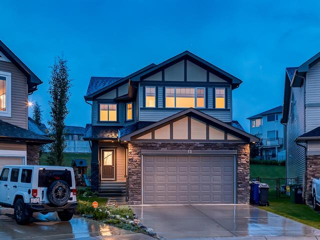 GREAT HOME on ENORMOUS 1067 sq m LOT (ONE OF LARGEST IN SUBDIVISION) + OVER 2322 sq ft of DEVELOPED LIVING SPACE w/MOUNTAIN VIEWS! LOCATED ON A QUIET CUL-DE-SAC + GREAT FEATURES like IRRIGATION, DOUBLE Attached Garage, A/C, 9' CEILINGS, NEUTRAL TONES, H/W FLOORS, GRANITE Counter Tops + OSMOSIS WATER FILTER! Main feat WELCOMING Foyer, Office w/frosted double doors, Kitchen w/LOVELY dark cabinetry, B/I WINE RACK wall unit, GRANITE counter tops, MATCHING S.S. appl incl 2 WALL OVENS + GAS counter top stove + 2 tiered ISLAND w/pendant lighting, SPACIOUS Dining rm w/deck access + LARGE windows, BRIGHT Living rm w/gas FP + STUNNING mantle, Laundry/Mud rm w/PLENTY of shelving + add'l Sink + 2 pc Bath. Upstairs feat Bonus rm w/LOFTED CEILING + MOUNTAIN VIEWS, Flex space, 4 pc Family bath, 3 Bdrm's incl Master w/GENEROUS W.I.C., BIG 5 pc en-suite w/JETTED TUB, JACK 'n' JILL sinks + Stand Up shwr. GIANT Landscaped Backyard w/PLAY STRUCTURE + TONS OF PRIVACY! WOW! WHAT A WONDERFUL COCHRANE HOME! BOOK A SHOWING TODAY!