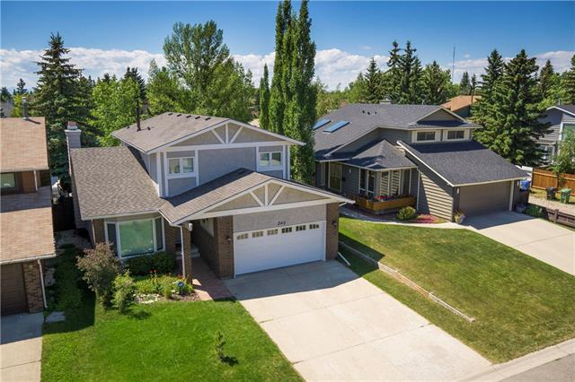 """""""SPECTACULAR LOCATION BACKING ON THE PARK, w/MATURE Trees"""" Many NEW UPGRADES throughout this WONDERFUL HOME w/OVER 3020 sq ft of DEVELOPED LIVING SPACE in this MUCH SOUGHT AFTER Community! TRIPLE PANE WINDOWS (2017), GARAGE DOOR (2018), EXTERIOR + INTERIOR PAINTING (2018), REFINISHED SAND on SITE HDWD, ROOF (2017), CORDLESS BLINDS (2017) + MUCH MORE! Starting w/a WELCOMING Entrance w/NEUTRAL tones, HUGE Living rm w/BAY windows, LGE Family rm w/FP + Doors to deck, Kitchen w/GRANITE counter tops, UNDER LIGHTING, Mostly SS Appliances,  BAY windows, LARGE Dining rm, 2 pc Bath, + Laundry/Mud rm.  Upstairs also UPDATED w/4 pc main bath w/QUARTZ counter tops, porcelain tile, 4 Bdrm's w/NEW CARPET incl SPACIOUS Master w/PLENTY of closet space + 4 pc En-suite! Bsmt w/GIANT Family rm + add'l Flex space, 4 pc bath w/NEW TOILET, FLOORING, + LARGE 5th Bdrm! B-yard w/DECK + LOVELY shrubs, Backing on to PLAYGROUND/GREEN SPACE! CLEAN + MOVE-IN READY CONDITION!  PROPERTIES LIKE this are VERY RARE, THIS ONE is a MUST SEE!"""