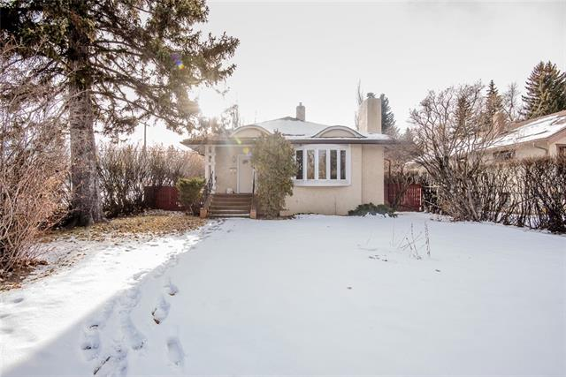 Excellent opportunity to build a luxury home on one of Calgary's finest streets, Riverdale Avenue. This bungalow is situated on a 50 x 120 foot corner lot with views of the sunny south backyard. Across from the river + pathway system + within a short walk to Elbow Park, Elboya + Rideau Park Schools, Sandy Beach, Stanley Park, Glencoe, Britannia shops + downtown.