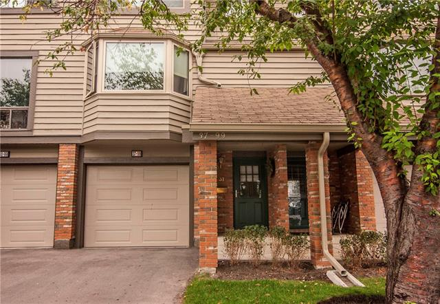 This unit is in immaculate condition and deserves your full attention! Fully developed from top to bottom, this home backs onto greenspace, offers lake access, is within walking distance to shopping and features it's own private patio area which is fully fenced. You will enjoy this bright kitchen with breakfast nook that boasts a bay window, the dining room which overlooks the living room that features an electric fireplace and you will LOVE the amazing views of the greenspace!  Upstairs you will find a huge maser bedroom with room for a sitting area and 2 children's bedrooms with a 4 pc bath. With a developed sitting room in the basement, a private east facing deck and a single attached garage, this home is waiting for you!