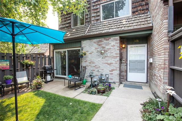 OPEN HOUSE WEDNESDAY, OCT 17 - 3:00-5:00 PM Location! Location! Location! Very desirable Highland Estates!!! Rarely does a unit come up for sale in this well managed complex. Why rent when you can own this move-in ready, beautifully updated 2-storey home in a park like setting with lots of green space, mature trees & landscaping! This lovely town-home with recent UPGRADES is a perfect starter home. The main floor features hardwood flooring and new patio doors to the beautiful, private east fenced yard. Upstairs has 2 large bedrooms with NEW WINDOWS, and a NEW 4 piece bathroom. The basement is undeveloped but large enough for future development. This charming home is within walking distance to shopping, transportation, LRT, schools (see photo), playground, restaurants, the Acadia Rec Centre and the new Tennis Complex.