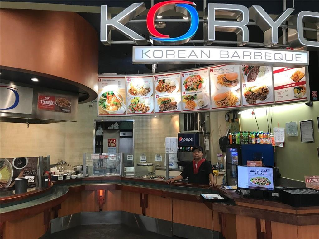 Busy Franchise Korean fast food located in North Hill Mall food court there are currently 9 locations in Calgary.  The Franchise Royalty Fee is 6 % which include 1 % advertisement fees.  Franchiser is the main supplier, all equipment belong to seller. Current owner 6 years . All viewing by appointment   thrur your realtor