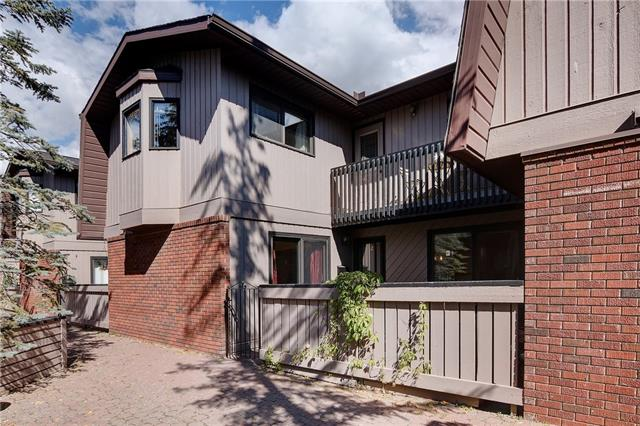 This magnificent condo is located in the highly desirable community of Houndsfield Heights/Briar Hill.  Close to restaurants, SAIT, Jubilee Auditorium, shopping, parks, & transit this central location is incredible! This property boasts 3 bedrooms, 2.5 bathrooms and is completely move in ready. On the main floor you will find a beautiful floor to celling brick fire place in the living room, a large kitchen and dining room with a chic spacious powder room. There are two sliding doors in both the kitchen and living room which lead you out to a private garden oasis great for entertaining friends and family. Upstairs you will find a corner master suite featuring a huge double closet with a 4 piece with a ensuite, two other bedrooms as well as a private balcony for you to enjoy. This unit comes with 2 parking stalls that are private, secure & underground located right outside your basement door! Call your favourite agent to preview this property today!