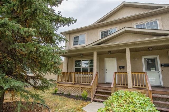 Sought after location! Rare opportunity to purchase in desirable North Glenmore Park for under $500k. Fresh paint, new carpet & refinished hardwood flooring in this 4 bed & 3 bath home. Walk to Mount Royal University and Atco Gas HO. Walk to schools K-12. Blocks from swimming pool, tennis courts, golf course, river walks & reservoir. Easy access to Rockyview Hospital, Chinook Mall, Marda Loop & downtown. Building sides on to park & playground. Open concept main has large windows, cozy living room w/ gas fireplace, 2-piece bath & custom maple kitchen w/ granite countertop. Patio door access to south facing fenced backyard w/ a huge deck, lawn & double det garage. Fully dev?ed basement has a 4th bed, a 3pce bath & laundry. Both sides of this duplex are available (but can be purchased separately) giving you the ability to live in one & rent out the other. Don?t miss out!