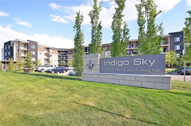 Welcome to Indigo Sky!! This fully upgraded one bed and one bathroom condo has everything you can ask for. Granite countertops, Stainless appliances, Garborator, Upgraded kitchen cabinets and Brand new flooring in the kitchen and bathroom. This larger corner unit has a functional floor plan, with a good-sized kitchen, bigger bedroom, full size stacked in-suite laundry, large bathroom with a soaker tub and one assigned parking spot right out front of the unit. Walking distance to C-Train station and two shopping centers nearby, have all your amenities taken care of. Incredibly affordable this is a great opportunity for first time home buyers or investors. Don't wait and book your showing today!!