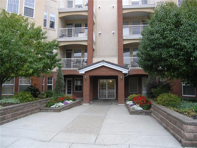 This 879 sq. ft. 1 bedroom with a den Shawnee Slopes condo apartment is situated in a well-cared for complex with tons of amenities.  Enjoy the fitness room, workshop, wine making room, car wash area with a vacuum, 2 resident lounges with full kitchen facilities and a guest suite.  There is a gas fire place in the living room, beautiful French doors that open to the den and a balcony with great views.  The balcony has a gas line for a barbeque.  There is a 4 piece bathroom off the bedroom and a 2 piece main bath as well as a large in-suite laundry area with storage.