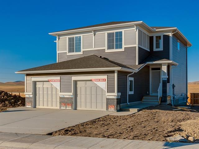 Brand new built by Stepper Homes the Peterson, building homes for over 60 years. This attached home offers upgrades & features which include: mountain views, single attached garage, deck, wrought iron railings, granite in kitchen, gas line for bbq & gas line to range & flooring is carpet, tile & LVP. The main floor features a 2pc bath, great room & a spacious kitchen that offers an island, pantry & nook that access to the deck/yard. The upper floor features a 4pc bath, laundry & 3 good size bedrooms. The master bedroom offers a full en suite & walk in closet. The lower level is awaiting your development ideas. The property offers neutral colors throughout. Close to green spaces, shopping, half block to playground  & easy access to Calgary & Banff. Ready for immediate possession.