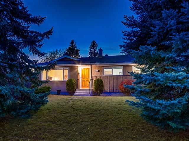 LOCATION, LOCATION, LOCATION!!! WELCOME to this IMMACULATE BUNGALOW w/TONS of CURB APPEAL, on a LARGE 557 sq m lot including LOVELY MATURE TREES + Shrubs, + over 2142 sq ft of DEVELOPED LIVING SPACE in a PRIME location w/EASY Access to major roads, SCHOOLS, 4 MIN WALK to the C-Train + Mount Royal Bus Stop! BRIGHT, WELCOMING entrance w/BEAUTIFUL Hardwood floors, UPDATED lighting throughout, SPACIOUS Living room w/PLENTY of NATURAL LIGHT, Kitchen w/TONS of LOVELY CABINETRY, MATCHING appliances, HUGE Windows over the SINK, + Backyard/basement ACCESS, PRIVATE Dining room w/more LARGE WINDOWS, 4 piece Main Bath w/EXTENDED vanity, + 3 Bdrms upstairs, all w/more of the GORGEOUS Hardwood floors. Basement w/2 more good-sized BDRMS, DRY BAR, add'l 3 piece bath, LAUNDRY, + 2017 FURNACE + HOT WATER TANK. HUGE WEST-facing b-yard w/TONS of MATURE TREES + OVER-SIZED DOUBLE Garage! 2015 ROOF, NEW Soffets + Eavestroughs, Fence, + FRESHLY PAINTED EXTERIOR make this a NO BRAINER! GREAT VALUE for your MONEY! COME SEE TODAY!