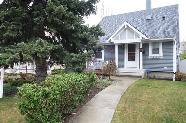 OPEN HOUSE SUN APR 21 2:00 -3:00 You will love this little gem in the heart of Garrison Woods. Located on a quiet tree lined street, this detached home charms you from the moment you arrive. Beautifully landscaped front and back - you may choose to sit on the front porch and greet the neighbours as they stroll to shopping, entertainment or River Park. The sunny S facing tiered back yard has upper & lower patios. Inside you will find a surprisingly spacious open L.R./D.R. w/refinished hardwood floors, big windows & 4 piece bath. The kitchen has an eating bar, stainless apps. lots of cabinets, ungraded counter & a window for extra light. Upstairs are 2 adorable bedrooms w/closets & slanted ceilings which create a cozy feeling. The lower level has newer carpets, a 3 piece bath, sauna (as-is), bonus room & a laundry room w/extra storage. This home is in an exceptional location - close to schools, parks and downtown. A double garage, 32 ft frontage & a newer roof ( Nov 2015 ) make this a perfect starter home.