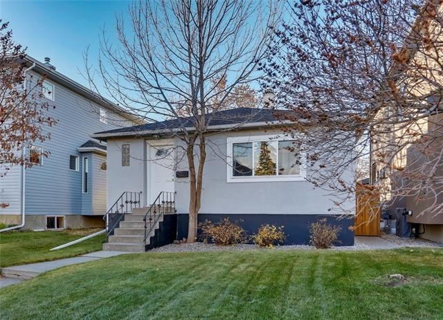 OPEN HOUSE Sat & Sun 2-4PM. A fabulous raised bungalow in the best location! Just a half block from Confederation Park on a south facing 37.5 x 121 foot lot on quiet 25 Ave. There are very nice upgrades to this character home with hardwood floors, solid woods doors, a solid wood custom kitchen eating bar. Kitchen feels open and bright, has newer stainless appliances and good storage. The basement is fully finished with an open sleeping / office area and separate living room / workout room. Laundry room is also in the basement plus a large storage room. Newer oversized double garage / workshop is heated with infrared gas and insulated / drywalled! Plus high ceilings & 220V - a real find! Updated roof, windows and electrical. A great south facing sunny backyard with newer deck, a great space to entertain. This is a wonderful neighbourhood with tree-lined streets so close to to downtown, shops and restaurants, SAIT, UofC, schools, transit and all the paths in Confederation Park. It is everything you need!