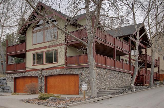 Welcome to this spectacular alpine-style home built by Elk Run Custom Homes. Located in the highly sought-after Hospital Hill neighborhood of Canmore, and just a short stroll to the Bow River and downtown, this home offers inspiring architecture, quality craftsmanship, and a classic indoor mountain ambiance. The southwest aspect offers an abundance of natural light through the over-sized windows, and Canmore's signature mountain views from the huge outdoor deck space. Finished with gleaming cherry hardwood floors, granite countertops, stainless steel appliances, and benefiting from the grandeur of vaulted ceilings, this home has plenty of quality space for entertaining as your full-time home, or for family gatherings as your weekend retreat. Easy access to Canmore Nordic Centre, Quarry Lake, and the wider Kananaskis Country. This is a sterling home in a prime location and shouldn't be missed.