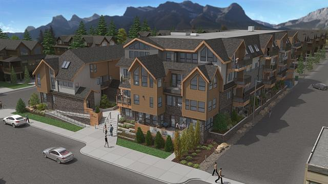 Welcome to the prestigious boutique condo development of The Residences at 7th&7th located in the Heart Of Downtown Canmore a mere half block from Main Street where you will find Canmore's trendiest shops and restaurants. Comprised of 38 luxury condominiums offering both town house and apartment style units with over 15 different floor plans to choose from there is something for everyone. A built green certification and high end finishing package is standard with built in stainless steel appliances/luxury vinyl plank flooring/quartz counter-tops/custom cabinetry and the list goes on. Each unit comes with one heated titled parking spot/ heated indoor storage unit and access to the heated/secured bicycle room. Opportunities like this don't come along often !