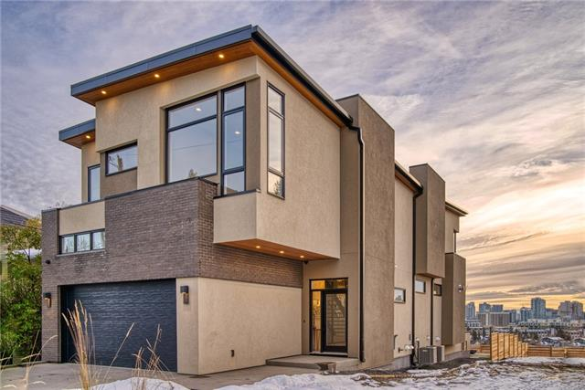 """This home will be ready for possession approx. 12 months from a firm sale. It is located on one of the best lots with the best city & mountain views that Calgary has to offer. If you have not been on Colgrove Ave. you must take a drive to this location & experience it. The evening views are as stunning as the daytime views & this builder is honored to present his last remaining lot & exquisite home. The planning process has been 3 years & well worth the wait. The exterior features basket woven cedar soffits & square """"S"""" locking facia. Once inside you will need to take a minute to catch your breath. From the foyer to the ensuite, every window will be perfectly placed to take advantage of the light & the views. Make your way into the main living area & there will be a custom staircase & wall that will be more of a work of art than a fixture. The open concept main floor will be created to host family gatherings & entertain friends. Pictures are from a previous build. Finishings will be the same quality."""