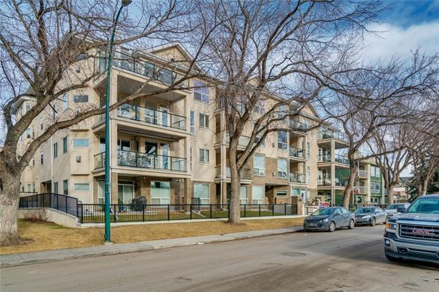 Located in the highly sought after community of Parkdale, this 2 bed 2 bath condo is sure to impress! Easy access to downtown, U of C, Foothills and the Children's hospitals make it a location tough to beat. Step outside the main entrance and you are basically on the Bow River path system!  Plenty of light fills this corner unit, which boasts an open concept living space, as well as a spacious master bedroom with full ensuite. The unit includes 1 underground parking stall, plenty of street parking, as well as a storage locker and in-suite laundry.  Easy access to the mountains and to downtown.  Book your showing today and see why Parkdale is one of Calgary's best neighbourhoods!