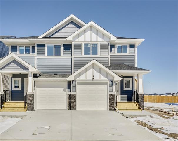 ** LIMITED TIME**  the builder is willing to take out front lawn and install an additional parking pad, at no cost. BRAND NEW UPGRADED home with a fully fenced yard and landscaping! Main floor living area features a modern open concept design with high-quality harbour oak grey laminate flooring, roller shade window coverings (throughout the house) pendant lighting, knockdown ceilings and more! Chef's kitchen complete with Dove grey quartz counter tops, Frigidaire SS appliances, modern cabinets with soft close drawers, kinetic water dispenser and rear balcony with gas-line opening up to the sizeable backyard (fencing and landscaping included in price and to be completed upon sale) 1/2 bath on main. Upstairs you will find a convenient bonus room, an oversized bedroom, laundry room (washer and dryer INCLUDED) and a master bedroom with a massive walk-in closet and 4pc ensuite. Downstairs features 9' ceilings and awaits your ideas. Single attached garage. This home is covered by the Alberta New Home Warranty.