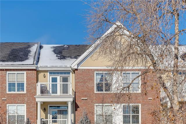 """Looking for a more serene setting within the active village atmosphere of Marda Loop? This classy light-filled unit offers charming long sight lines over a pretty treed park. Enjoy the sense of space where you want it: king-size bedroom & double closets. dual access bathroom, walk-in laundry room & shelving, 9"""" ceiling, 5?x 4? storage cage, and top floor 9?x 6? deck with gas BBQ hook up. Stay organized in the cleverly designed built-in office. Who needs a separate den?  Sit or entertain around the maple kitchen peninsula.  The upscale Courtyards at Garrison Woods complex includes an amenity building with indoor path to the pool, fitness centre, change facilities & social room. It's surrounded by 18 visitor parking spots sharing a cul-de-sac driveway with building 3000. 2 guest suites, car wash.  Unit, parking & storage are well-located for the elevator. Age 18+. One pet, dog max 20 lbs. Walk to the neighbourhood's rich amenities. Central to DT, Crowchild, MRU, U of C, Chinook Centre, hospitals, parks."""