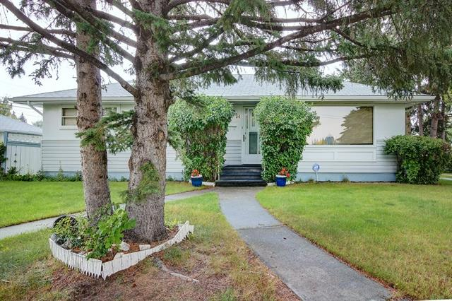 Huge potential with this lovingly cared for Bungalow. Newer furnace, water heater, electric panel & roof. Bonus! - there is hardwood under the carpet on the main floor. A fabulous location, surrounded by infills and high end homes and across from the community center (new 2016) home to the senior's lawn bowling club and a playground for the children too. The main floor has a large living room, dining room and kitchen, 3 bedrooms and a 4 piece bathroom. Downstairs, you will find a kitchenette, bedroom, sitting room, a 3 piece bathroom and loads of storage. The double detached garage is huge! The community of Spruce cliff is a hidden gem - close to the Bow river pathways, Bow Trail and the C-train. So many options - Renovate to make your own, complete the suite downstairs or redevelop this R2 lot!