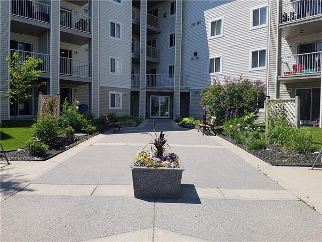 Price has been reduced on this quaint main floor, one bedroom condo located in the Elliston Park 3000 complex across from Elliston Park on 17th Ave SE, which make it the lowest price in the area !The complex welcomes all breeds of dogs with no weight restrictions, which is rare, so the off- leash dog area across the street is perfect! The apartment condo has in-suite laundry, a spacious eat in kitchen with patio doors to a covered concrete patio, a good size bedroom with 2 closets and a spacious front living room. There is also a titled, heated underground parking space which adds great value. First time buyers or someone looking to downsize are a great fit. The well - run complex has had several upgrades in the common areas. Condo fees cover all utilities except cable and phone. Lots of visitor parking. Have fun updating this great space!