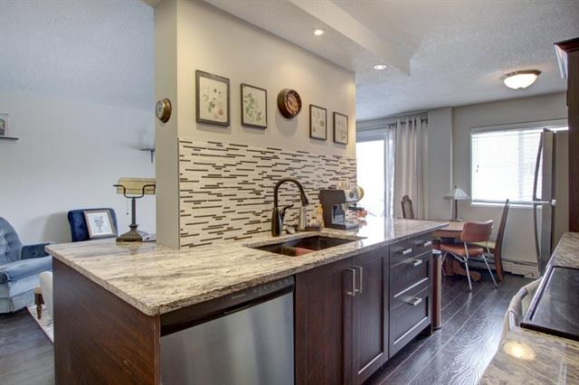 Fully Renovated 2 Bedroom unit with assigned parking stall in an all concrete building in the heart of Mission! Located on a quiet tree lined cul-de-sac with no through traffic! Steps to the river pathways, Lindsay Park/Respol Sports Centre, Stampede Park/Saddledome and a few blocks to all the restaurants and shops on 4th street. Walk into downtown, 17th Ave and the C-train. Location doesn't get any better! Inside you'll find a meticulously and beautifully renovated space with new kitchen, stainless steel appliances and granite countertops, renovated bathroom, and 2 large bedrooms.  The open concept living/dining/Kitchen space is perfect for entertaining and allows for an abundance of natural light throughout the space.  For additional information and photos of this property visit www.AlbertaREListings.com or call for private tour.